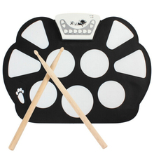 Digital Portable Convenient 9 Pad Musical Instrument Electronic Roll-up Drum Kit