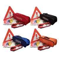 9 ピース道端での援助自動緊急キットツールバッグ最初最適援助アクセサリーキット頑丈なツールバッグ (ランダム色)