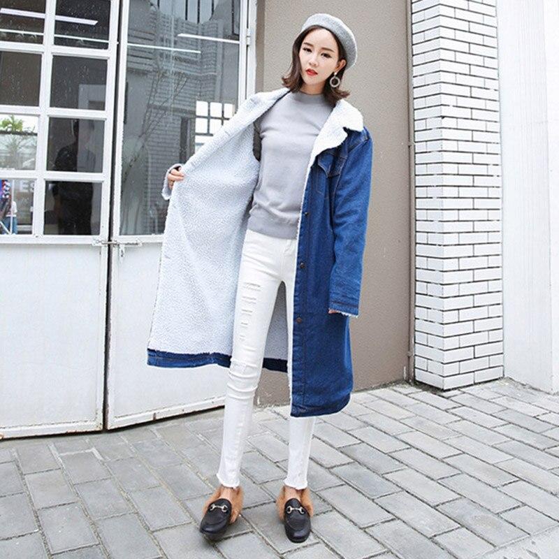 Manteau Filles Profond Outwear Base Ciel Femelle Veste Lumière Denim Femmes Doublure 2018 Automne Chaud Printemps Bleu Lâche Laine bleu pu Manteaux De Jeans qBxnS6g