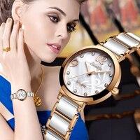 SUNKTA Новый Топ Бренд роскошные керамические кварцевые женские часы водонепроницаемые Модные простые часы женские часы для девочек Relogio Feminino
