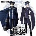 Vocaloid Kaito Senbon одежда C рисунком Косплей Костюм Королевский синий изготовленный на заказ с шапкой пальто брюки шляпа перчатки Бесплатная доставка - фото