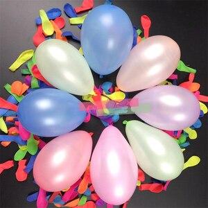 Image 4 - 100ピース/ロット誕生日装飾風船パーティー結婚式の装飾キッドパーティーsupplieyランダムカラーベビーシャワーラテックスフリーウォーターバルーン