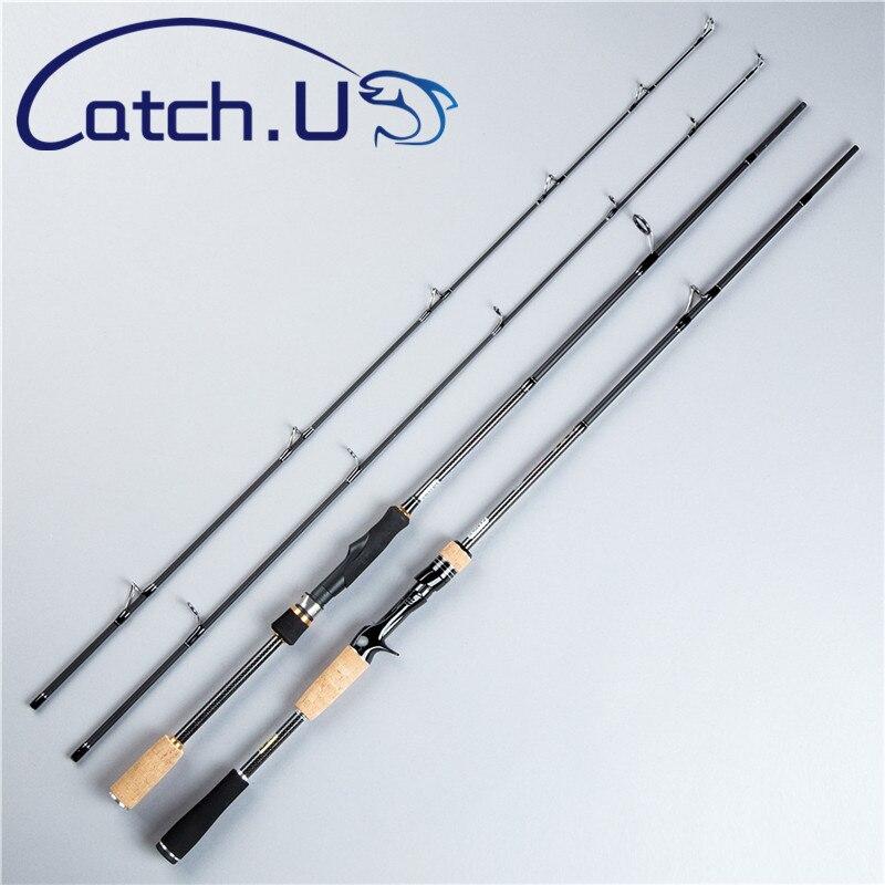 Catch.U 1.8m Fishing Rod Spinning Telescopic Hard Fishing Rod Carbon Spinning Casting Fishing Rods