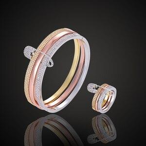 Роскошный брендовый ювелирный браслет Fateama с микрозакрепкой и кольцом, 3 цвета, защитный браслет с булавкой, модные ювелирные изделия
