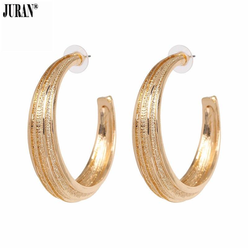 JURAN Fashion 2018 Women Maxi Drop Earrings Large Geometric Pendant Earrings Big Circle Statement Jewelry Female Bijoux Hot Sale