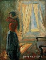 Copia pinturas de artista famoso Femme Un sa toilette Edvard Munch ilustraciones de Alta Calidad Hecha A Mano