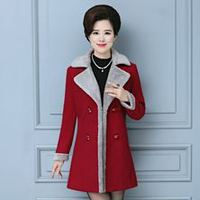 Womens Coats Winter 2017 The Middle-aged Woman Fashion Temperament Contracted Winter Coat Women Elegant Winter Coat Women Wool
