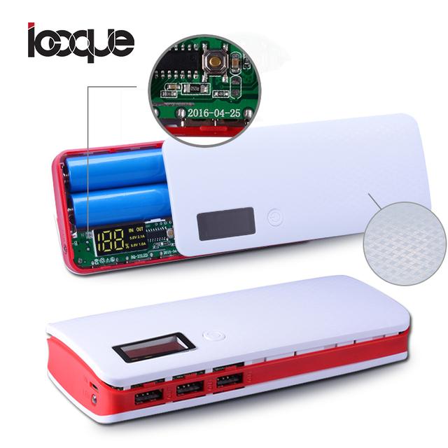 Newest 3 Ports 5×18650 DIY Portable Battery Power Bank Shell Case Box LCD Display Powerbank Box DIY KIT 18650 (No Battery)