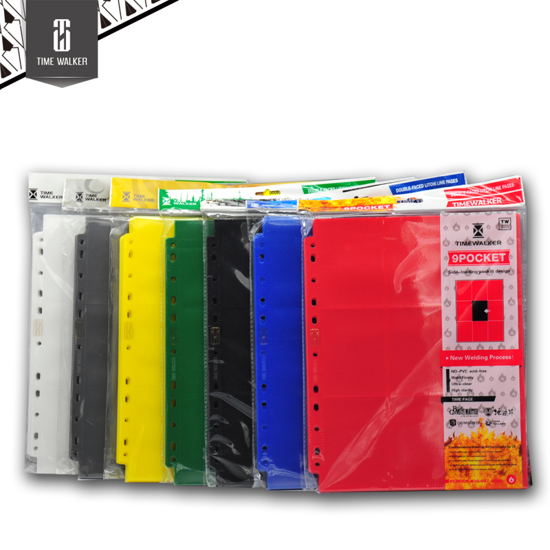 20 Pages Board Game Trading Cards Protectors Colorful card page 9 Pocket Pages For MGT CARDS book