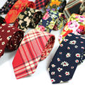 Newest Floral 100% Cotton Ties for Men 5.5 width Narrow Neckties High Quality Adult Slim Neck Tie Party Accessories Cravat