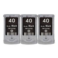Hisaint 3X PG 40 PG40 Black Inkjet Cartridge For Canon PIXMA IP2500 IP2600 MX300 MX310