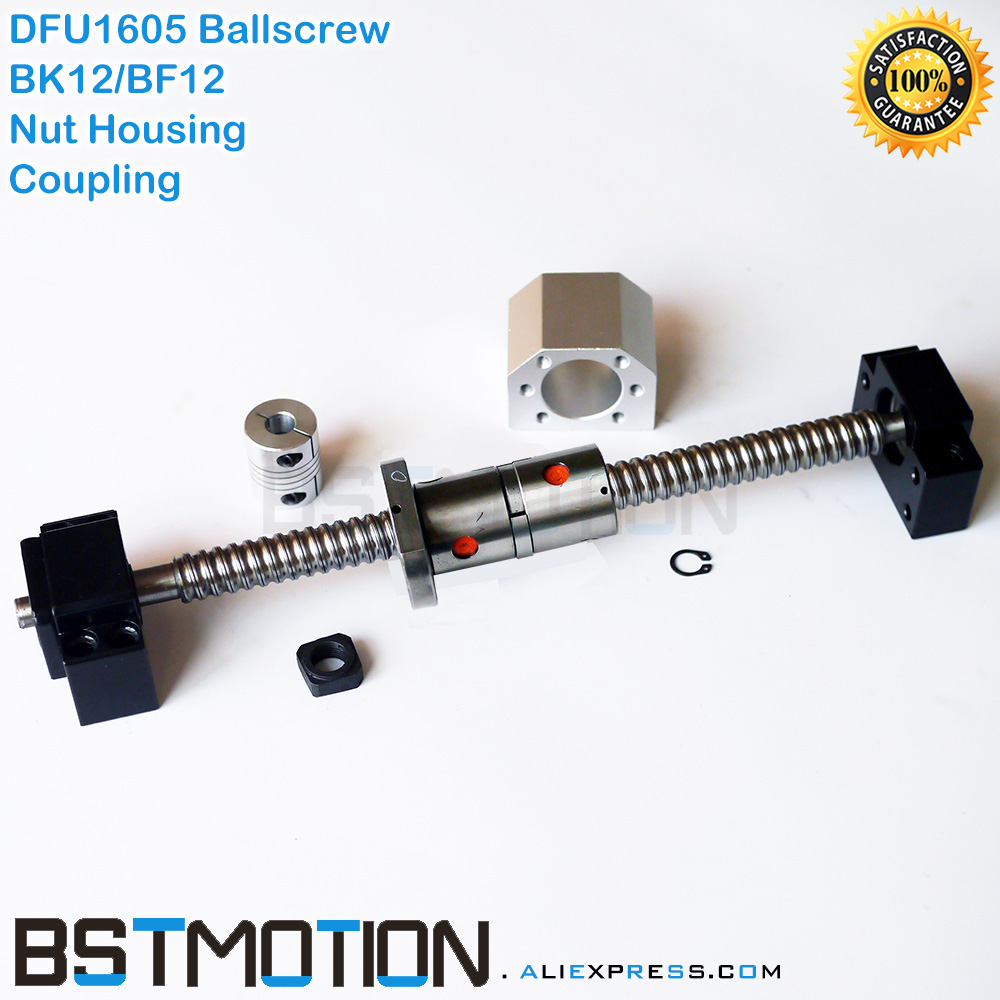 DFU1605 Ballscrew 1605 300mm 400 500mm 600mm 700 750mm 800 900 1000mm 1100mm 1200mm 1500mm Double