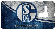 Futebol Schalke 04 para HTC one X M7 M8 M9 para Samsung Galaxy S3 S4 S5 Mini S6 S7 borda E5 E7 e nota 3 4 5