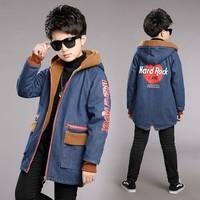2019 Children Autumn Winter Clothes Outdoor Fleece Jackets for Boys Clothing Hooded Warm Outerwear Windbreaker Baby Kids Coats