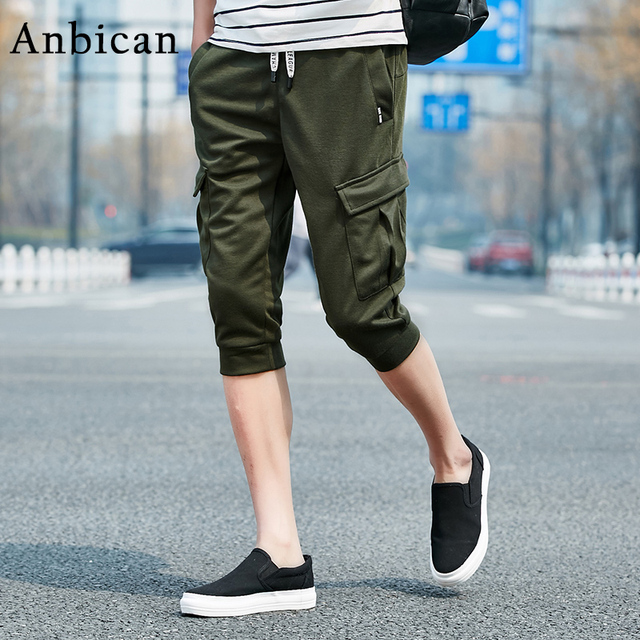 94d49013d91f2a Anbican Sommer Mode Streetwear Shorts Männer 2017 Marke Design Taschen Herren  Lange Schweiß Shorts Kordelzug Harem