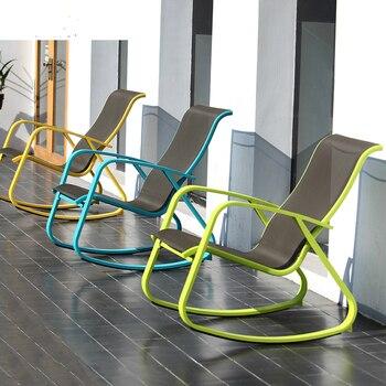 Simple hogar almuerzo reclinable adulto ocio mecedora Silla de ocio sillón de salón mecedora