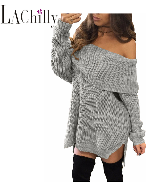 2017 Winter New Fashion Women Pullover Oversized Sweaters Thick ...