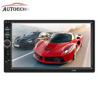 7 2 Din Car MP4/MP5 Player Bluetooth 3.0 Android Phone Mirror Link Reverse Image USB/TF/AUX Port Stereo Audio Video Player