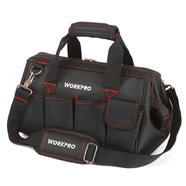 WORKPRO Waterproof Tool bag Travel Bags Men Crossbody Bag Tool Bags Large Capacity Free Shipping 4 size(12 14 16 18 inch)