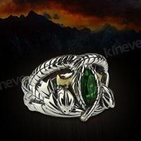 LOTR Jewelry 925 Sterling Silver Aragorn's Ring of Barahir One Sliver Ring Real 925 Sterling Silver Men Rings