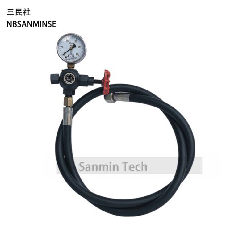 Hydraulic Accumulator Pneumatic Parts  Valve CQJ 16 / 25 / 40 , 10 20 31.5MPa Nitrogen Charging Tool Hydraulic Components Sanmin high quality hydraulic valve sv13 16 0 0 00