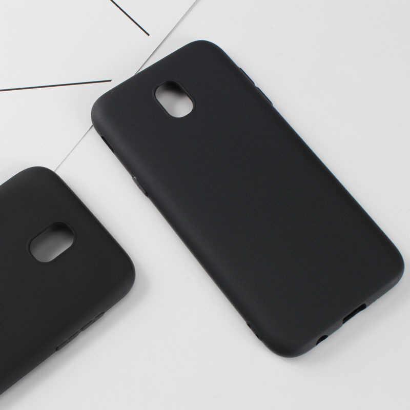 Siyah TPU Telefon samsung kılıfı Galaxy S9 S8 S7 S6 Artı Kenar A8 Artı J2 Pro 2018 A3 A5 A7 J3 j5 J7 2016 2017 Yumuşak Kapak Kabuk