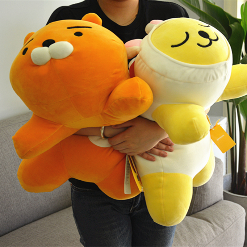 1pc 55cm Cute Kakao Friends Plush Dolls Stuffed Kawaii Cartoon Soft Pillows Figure Toys Ryan Cocoa Kids Children birthday Gift 38cm plush whales toys with soft pp cotton creative stuffed animal dolls cute whales toys fish birthday gift for children