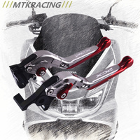 MTKRACING CNC For Honda PCX 125 150 All Years Motorcycle Accessories Foldable Extending Brake Clutch Levers