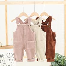 Г. Новые стильные вельветовые комбинезоны для девочек и мальчиков осенние модные детские штаны от 0 до 4 лет
