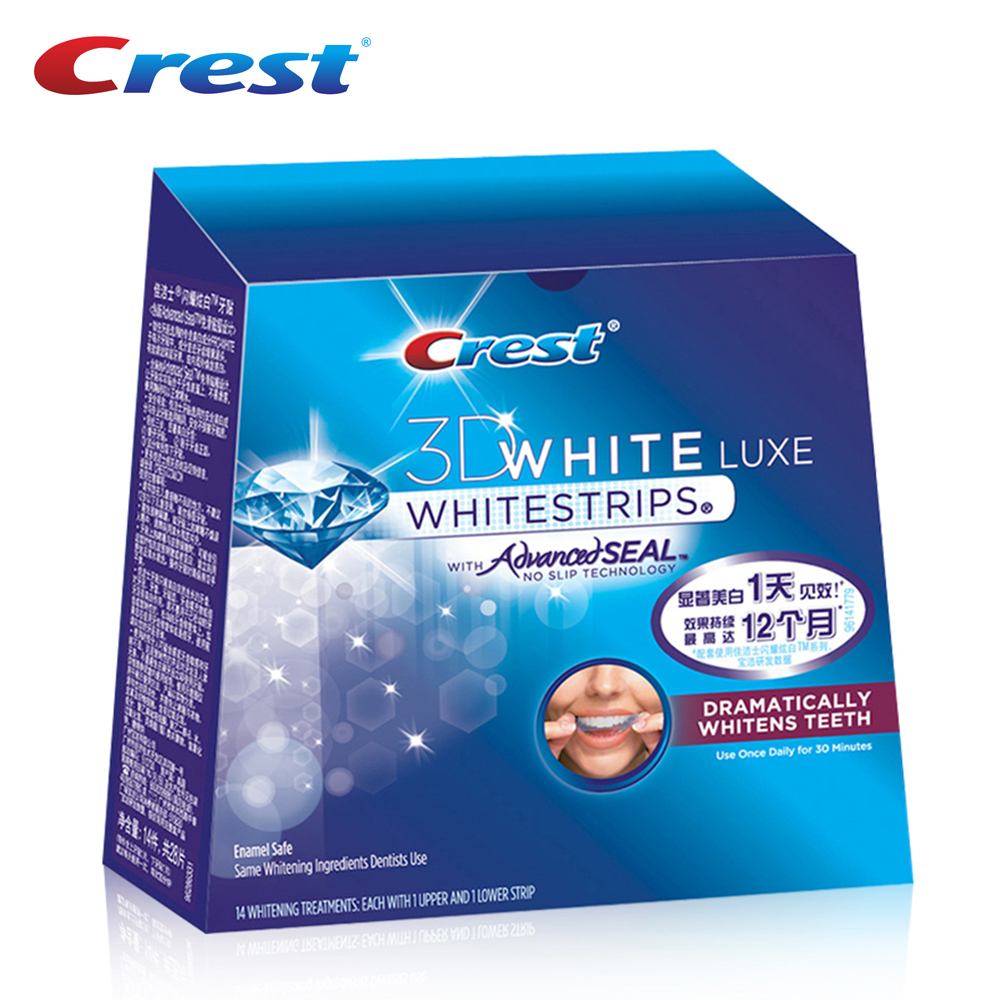 Crest 3D White Teeth Whitestrips Oral Hygiene Advanced Dental Whitening Strips Bleaching Dental Care 14 Pouches/28 Strips 10 pouches crest teeth whitening strips advanced vivid 3d white original oral hygiene tooth whitestrips no box free shipping
