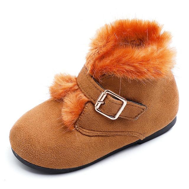 2018 new girls Martin boots children autumn winter cotton short boots kids school cute princess shoes Super soft and comfortable Girl's Shoes