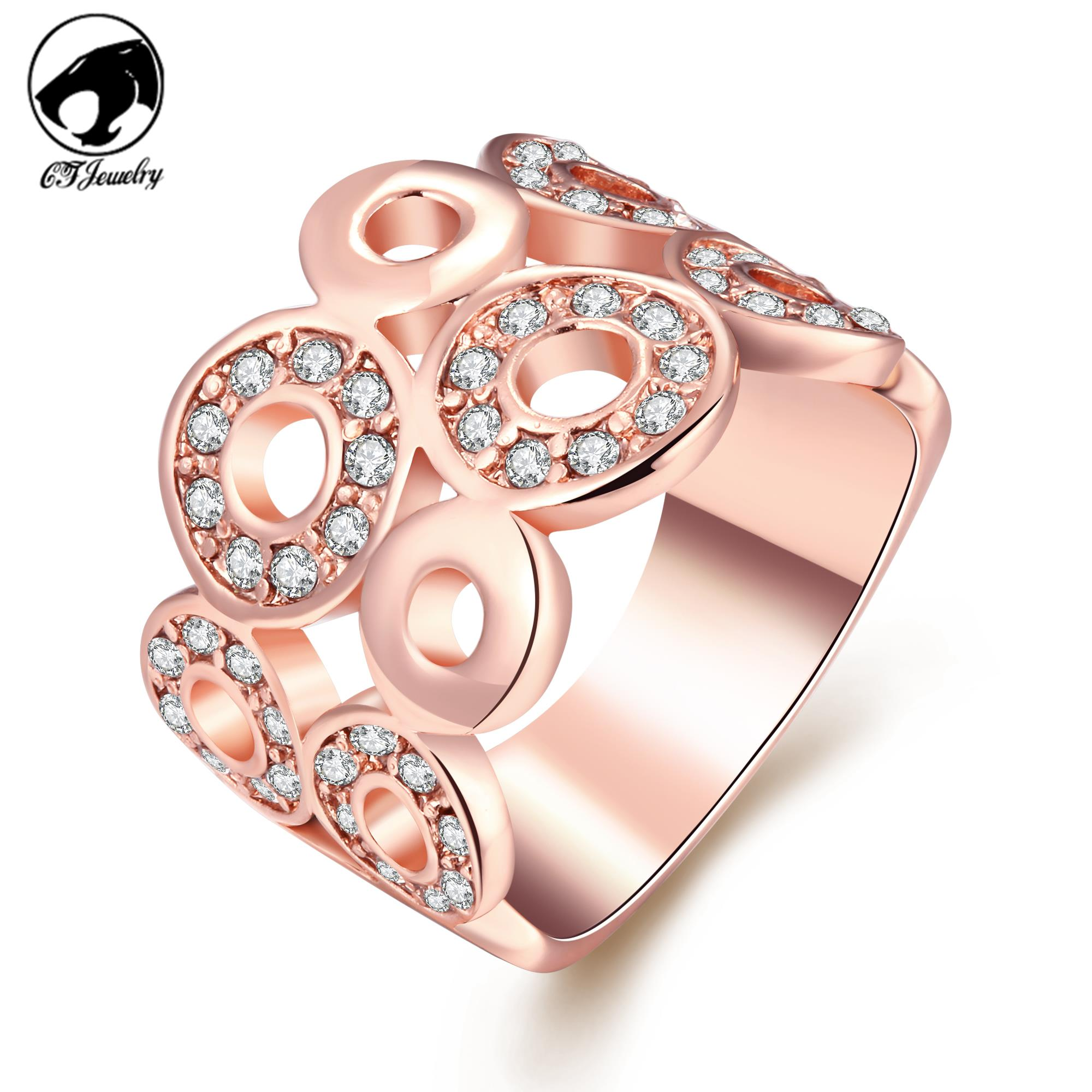 Christmas Gift Classic Luxury Engagement Rings For Women Top Quality ...