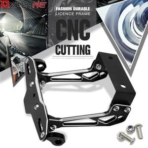 Image 1 - Motorcycle Aluminum License Plate Bracket Licence Plate Holder Frame Number Plate For SUZUKI GSF 600 Bandit S X 1995 1996   2017