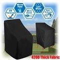 1 pc 210d/420d cadeira capa impermeável ao ar livre empilhamento cadeira capa jardim parkland pátio cadeiras móveis dropship artigo