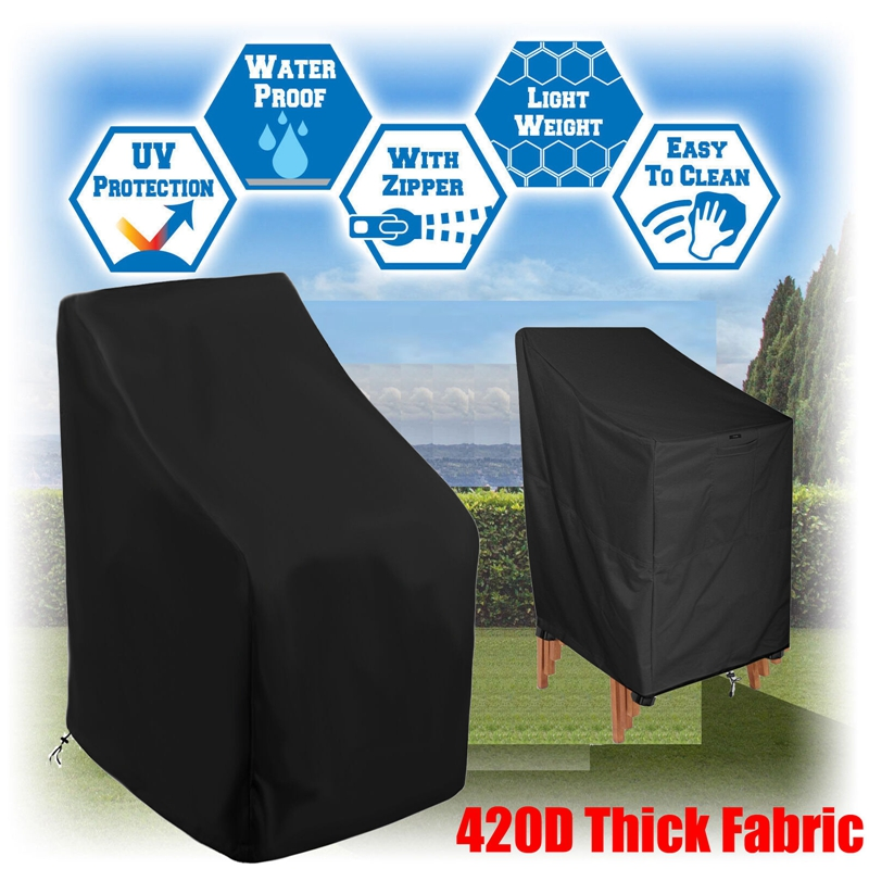 1PC 210D/ 420D Chair Cover Waterproof Outdoor Stacking Chair Cover Garden Parkland Patio Chairs Furniture Dropship Item