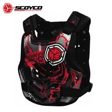 SCOYCO Men's Motorcycle Armor Moto Protector Motocross Armor Vest Body Protector Motorbike Vest Chest Back Protective Gear