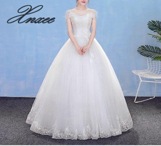 2019 new V neck dress slim slimming sweet lace dress