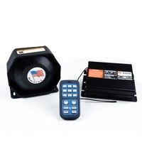 200W DC12V Electronic Police Siren AS920 Wireless Amplifier with Ultra Slim Metal Speaker Car Alarm Siren Horn PA System