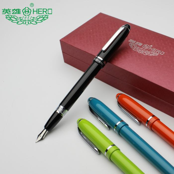 Fountain pen 0.5MM Nib Original Hero1031 standard signature pen office and school stationery Free Shipping fountain pen curved nib or straight nib to choose hero 6055 office and school calligraphy art pens free shipping