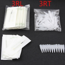 3RL+3RT (Needles +Tips Each 50pcs ) Professional Permanent Makeup Machine Needles Caps For Eyebrow Lips