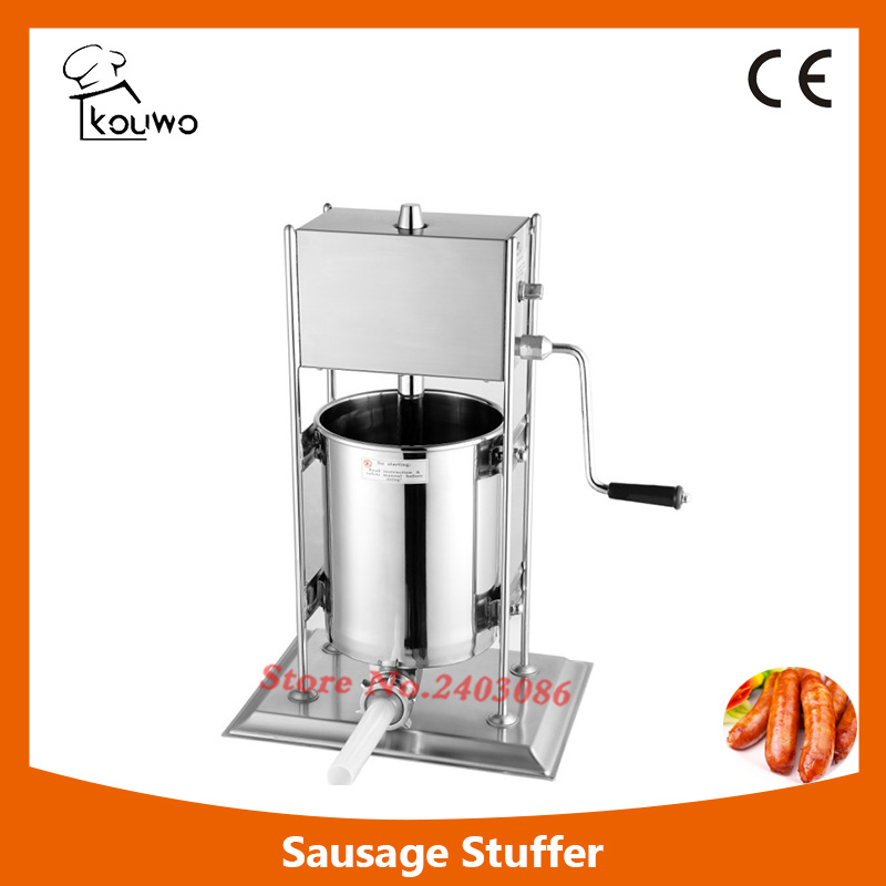 10L vertical manual stainless steel sausage stuffing machine with different sausage funnel,sausage maker,sausage making machine 2l spanish manual stainless steel churro maker machine