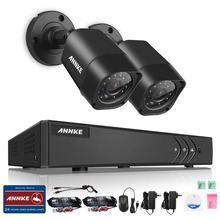 ANNKE 4CH HD TVI 1080N DVR 1500TVL Outdoor IR Day Night Security Camera System NO HDD