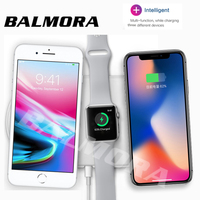 BALMORA For IWatch 2 3 Airpower QI Wireless Charger For IPhone X 8 8plus Fast Charging