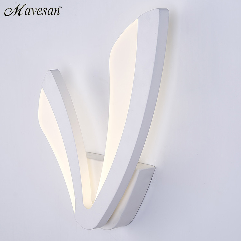 Modern LED Wall Lamp For Bathroom Bedroom 12W Wall Sconce White Indoor Lighting Lamp AC100-265V LED Wall Light Indoor Lighting contemporary led wall lamp with butterfly lampshade for bedroom foyer 15w wall sconce white warm white indoor lighting lamp