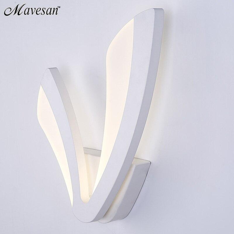 Moderne LED Mur Lampe Pour Salle De Bains Chambre 12 W Applique Murale Blanc Éclairage Intérieur Lampe AC100-265V LED Lumière De Mur Intérieur éclairage