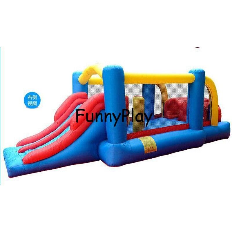 Équipement gonflable d'intérieur de terrain de jeu, maison gonflable adaptée aux besoins du client de rebond et combo de glissière, videurs gonflables pour des tout-petits