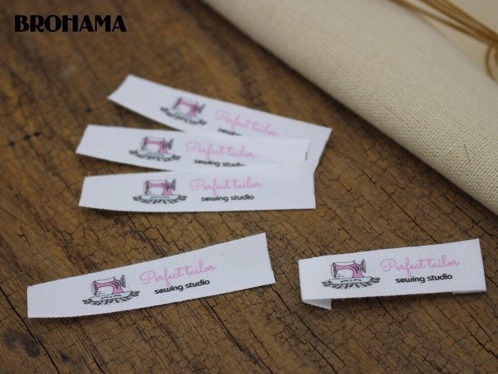 Custom Flat folding Tags / brand labels, Sewing Labels, Custom Clothing Tags, Name Tags, Wewing Handmade labels (MD018)