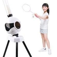 Dorosły dzieciak automatyczna maszyna do badmintona Robot prezent przenośny odkryty kryty początkujący piłka Pitching Practice Trainer Device
