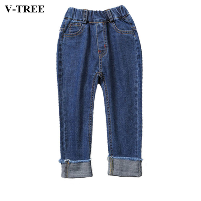V-TREE Children's Jeans In Spring Jeans For Boys Trousers For Kids Boys Pants Children's Costume