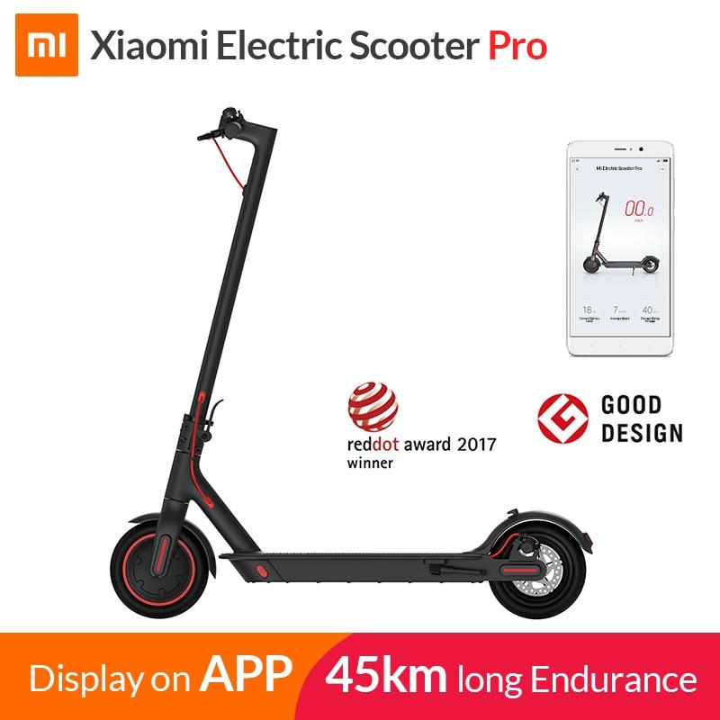 2019 Xiao mi mi mi jia M365 Pro Inteligente Scooter Elétrico E Scooter Longboard Skate Hoverboard mi ni Dobrável Adulto 45 km Bateria
